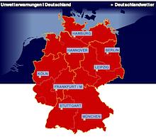 Wetterwarnungen auf wetter.de