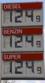 Benzinpreis am 17. Okt. 2008: 1,24 EUR