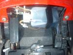 Elektronikbox und Ölbehälter