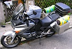 Voll bepackte Honda Varadero