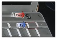 Power- und F12-Taste des Powerbooks