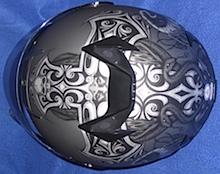 Skorpion Helm von oben