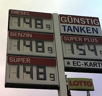 Kraftstoffpreise am 21.05.2008
