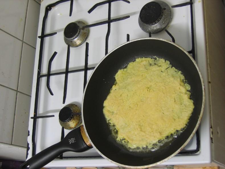 Kartoffelpuffer erste Seite fertig gebraten